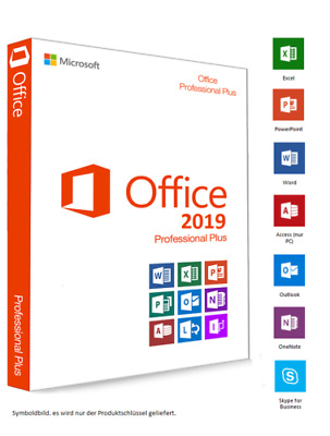 3x Microsoft Office 2019 Professional Plus Key Vollversion 3PC 32/64 Email