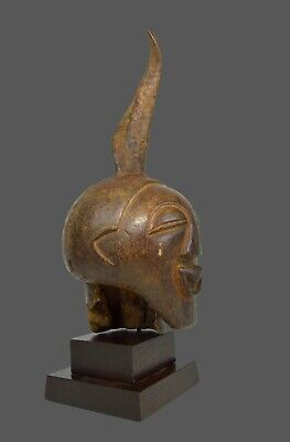 A Fine Old Songye Nkisi Magic fetish Head with Horn, African Art