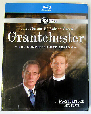 BLU GRANTCHESTER: Season 3 (2017 PBS Masterpiece Mystery!) 3-Discs Very Good++