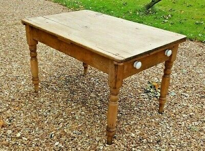 Old Vintage Pine Table ~ Farmhouse Look & could be 100 years old