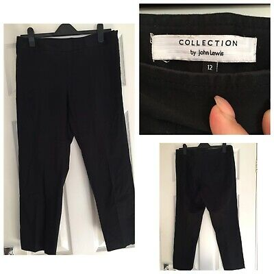 John Lewis Collection Size 12 Black Smart Trousers (540)