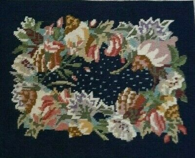 Ehrman Tapestry by Susan Skeen 'Flowers and Shells' 33 x 25cm 99% complete