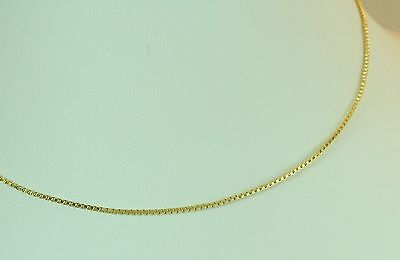 """22K Thai Baht Dp Yellow Gold ~ 18""""  Beautiful Square Link Box Chain Necklace"""