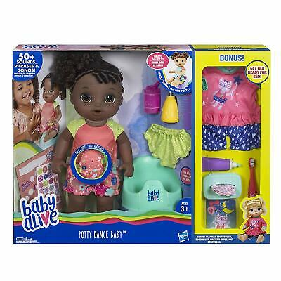 """Baby Alive """"Exclusive"""" Potty Dance Value Pack, Black Curly Hair"""