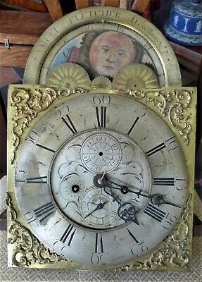 18th Cent 8 Day Moon Dial Longcase Clock Movement