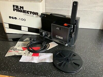 DUO 100 DUAL SUPER 8 & standard 8mm Dual Format Cine Movie Film Projector New