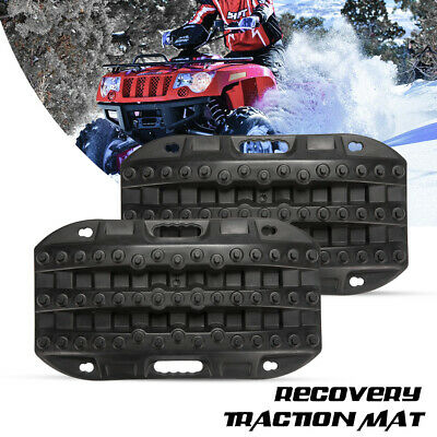Black Recovery Traction Tracks Boards for Sand Mud Snow Track Tire Ladder