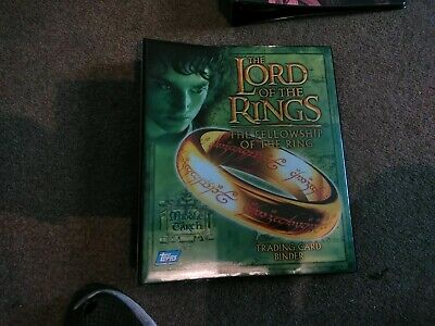 Lord ofRings Fellowship of the Ring Binder With Full Set Of Cards