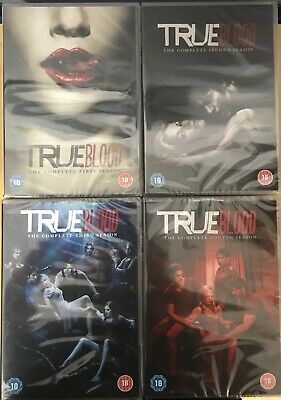 True Blood - Season 1-4 Complete (DVD) New Sealed Missing Outer Slipcover