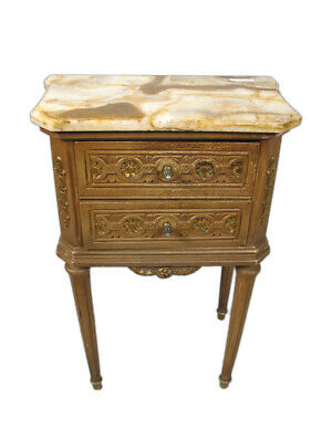 Antique French Louis XVI Style Marble Top Side Table # 11261