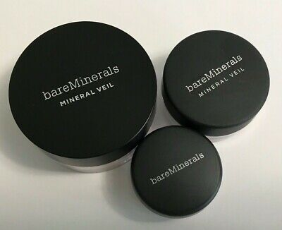 Bare Minerals Makeup Illuminating Mineral Veil Eye Color  Lot Of 3 Travel Size