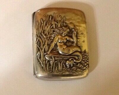 Antique Mermaid Bristol Silver Marked Very Unusual Box.