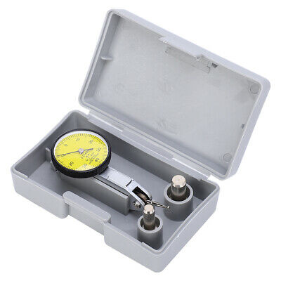 Precision 0.01mm Lever Dial Test Indicator Meter Tool Kit Gage +Grey Case US
