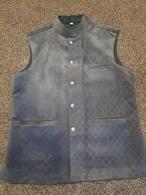 Men's Waistcoat Shaadi/Wedding/Walima Asian Style Grey Velvet Smart