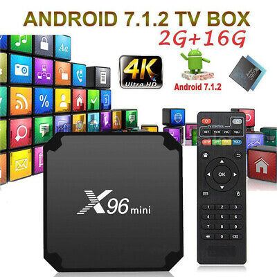 Media Player X96 Mini TV Box Android 7.1.2 Quad Core WiFi HD 2GB + 16GB 4K