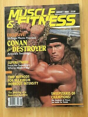 MUSCLE & FITNESS magazine ARNOLD SCHWARZENEGGER as Conan August 1984