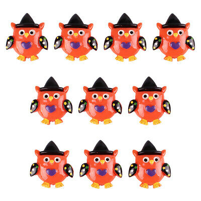 Lot 10 pcs Owl with Hat for Halloween Party Resin Flatback Hair Bow Crafts Prop