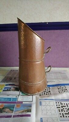 copper and brass coal scuttle made in england