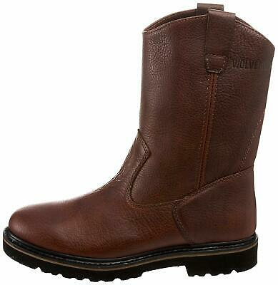 eb92552f1d9 WOLVERINE W10702 MEN'S Brown Rancher Wellington Steel Toe Work Boots Size  12 M