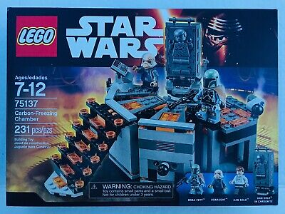 LEGO 75137 STAR WARS Carbon-Freezing Chamber HAN SOLO BOBA FETT New Sealed 👍