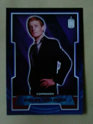Doctor Who Red Parallel Chase Card - 49  Vislor Turlough #50/50 Topps - 2015