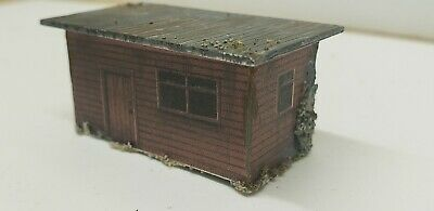 N scale trackside shed  building built up weathered as shown