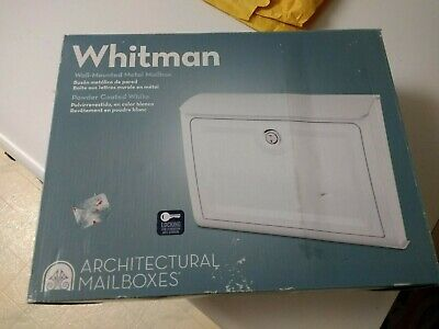 Architectural Mailboxes Whitman Smart Metal White Lockable Wall Mount Mailbox
