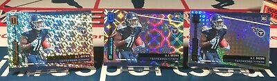 A.J. Brown 2019 Panini Unparalleled Rookie Lot #245 Base/Galatic/Flight Titans