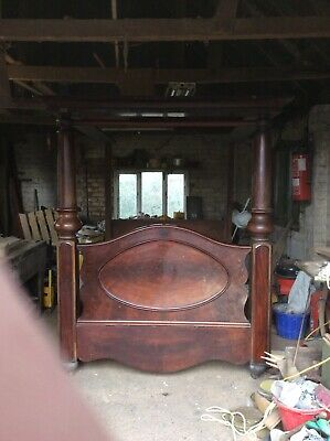antique mohogany four poster bed