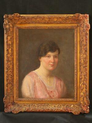 FINE 19th/20th Century  PORTRAIT By JACQUES DORE 1881-1929 Antique Oil Painting