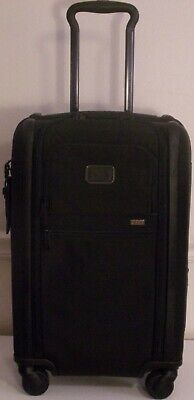 Tumi Black Alpha 3 Dual Access Expandable 4 Wheel Rolling Carry On Luggage