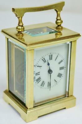 Small Antique French 8 Day Timepiece Carriage Clock With Platform Escapement