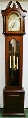 Vintage FHS Triple Weight Musical Westminster Chime Longcase Grandfather Clock