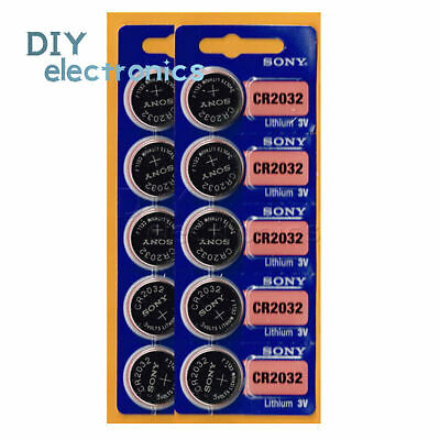 5/10PCS CR2032 3V Button Coin Cell Li-ion Battery CR 2032 for Motherboard US