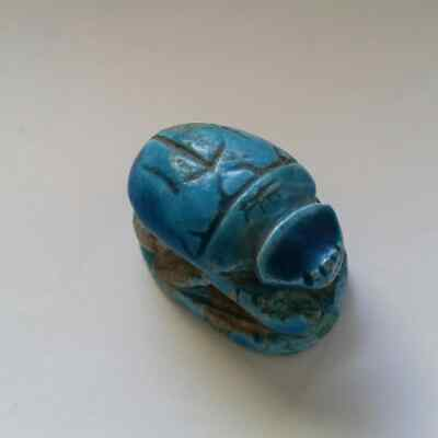 Ancient Turquoise Egyptian Scarab