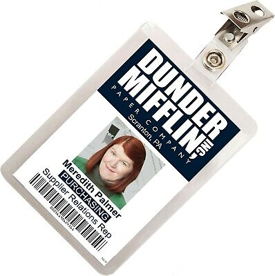 The Office Meredith Palmer Dunder Mifflin ID Badge Cosplay Costume Name Tag TO11
