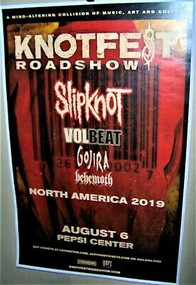 SLIPKNOT in Concert Show Poster KNOTFEST Roadshow DEnver Co Aug 6th 2o19 GOJIRA