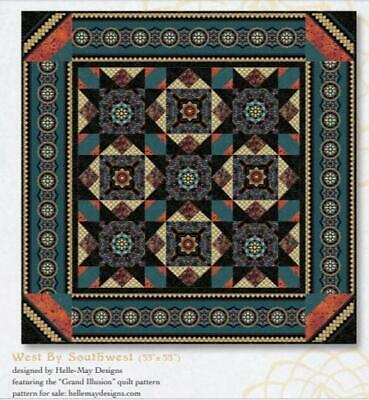 "West by Southwest Quilt Kit, Stars,  Windham Grand Illusion fabrics,  53"" x 53"""
