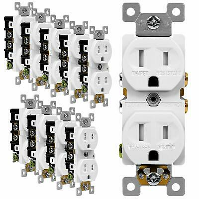 ENERLITES Duplex Receptacle Outlet 3 Wire 2 Pole Self Grounding 15A 125V