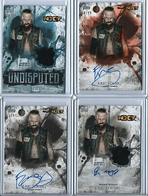Eric Young 2018 WWE Topps Undisputed Auto /25 /99 /199 Relic NXT Blue Orange