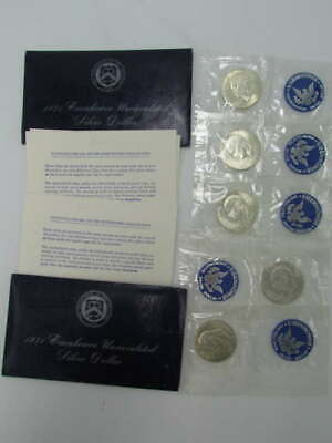5 Uncirculated 1971 Us Silver Eisenhower Dollar Sealed Coin Set Collection