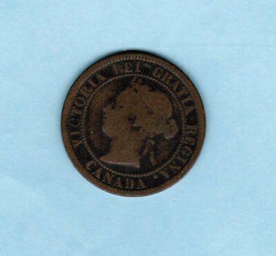 1876 Canada One Cent Coin