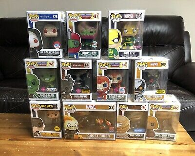 Funko Pop Lot Of 11 Must See! Ghost Rider MOTU IT Twilight Iron Fist