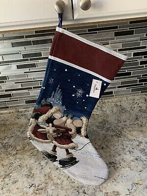 Disney Parks Mickey And Minnie Mouse Christmas Stocking New With Tags