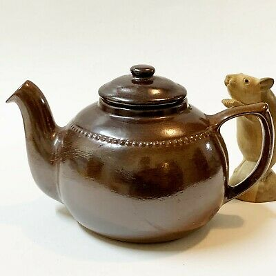 Bendigo Pottery Salt Glazed Teapot, 4-6 Cup (1.2L), Vintage & Perfect