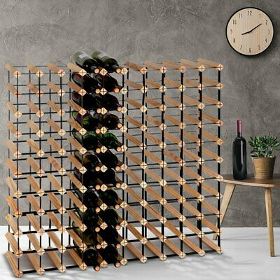 110 Bottle Timber Wine Rack Complete Wooden Storage System Cellar Display Kitche