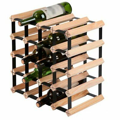 20 Bottle Timber Wine Rack Storage System Wooden Racks Holders Cellar Display