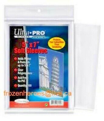 ULTRA PRO 5 x 7 POLY SLEEVES**100 SLEEVES PER PACKAGE**SHIPPING DISCOUNTS**