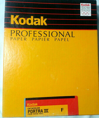 "Kodak Professional ektacolor Portra III Paper  8"" x  10"" - 100 New Open Box"