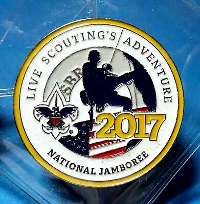 2017 National 2019 World Scout Jamboree Offl Challenge Coin  Not Badge Patch